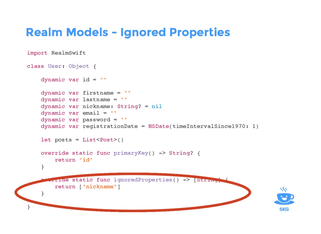 Realm Models - Ignored Properties Realm Models ...