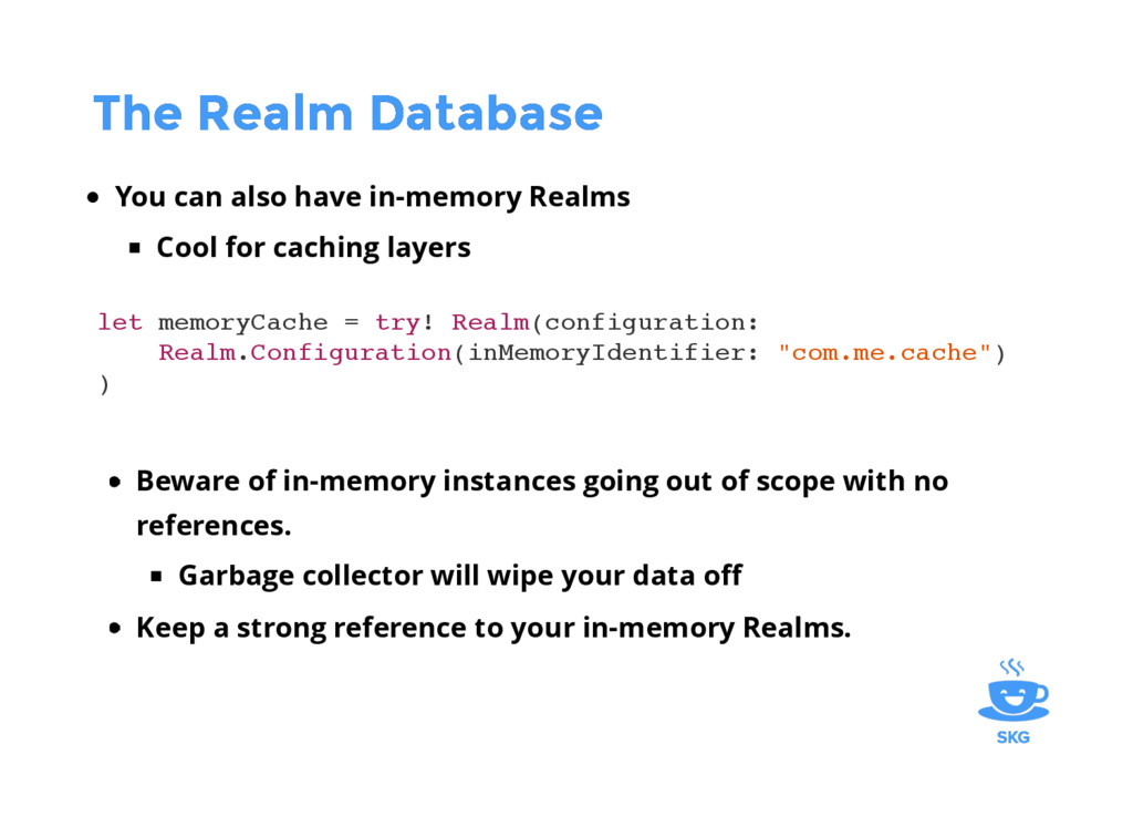 The Realm Database The Realm Database You can a...