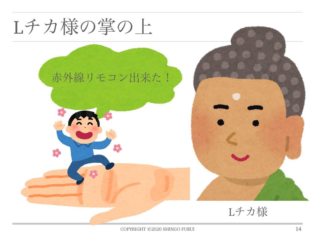 COPYRIGHT ©2020 SHINGO FUKUI LνΧ༷ͷঠͷ্ 14 ֎ઢϦϞί...