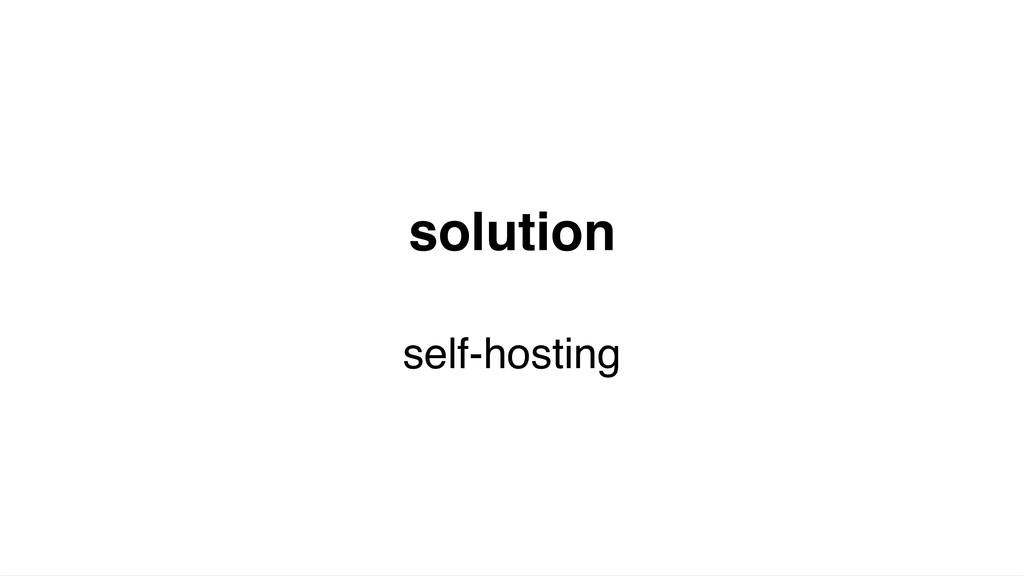 solution self-hosting