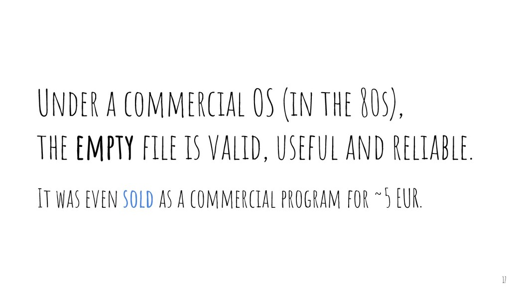 17 Under a commercial OS (in the 80s), the empt...