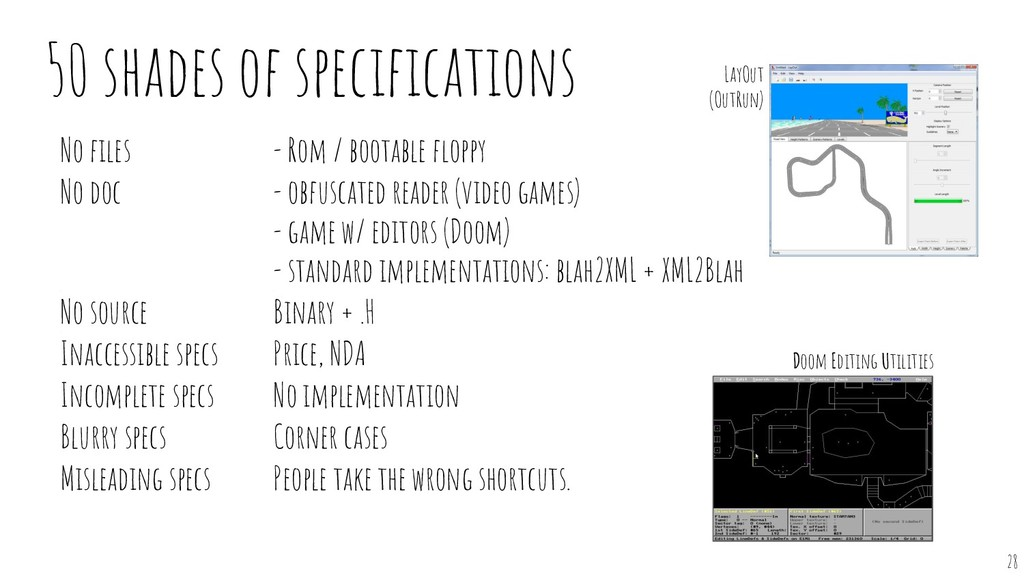 50 shades of specifications - Rom / bootable flop...