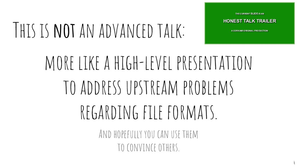 This is not an advanced talk: more like a high-...