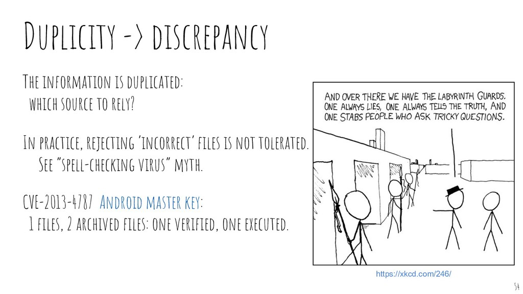 Duplicity -> discrepancy The information is dup...
