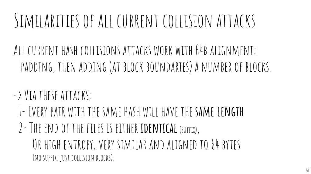 All current hash collisions attacks work with 6...