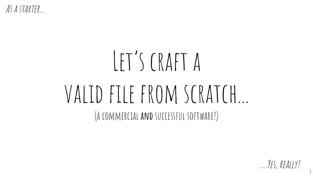 Let's craft a valid file from scratch... (a comm...