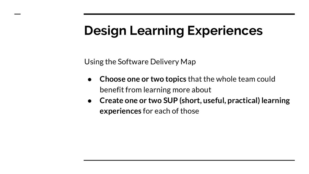 Design Learning Experiences Using the Software ...