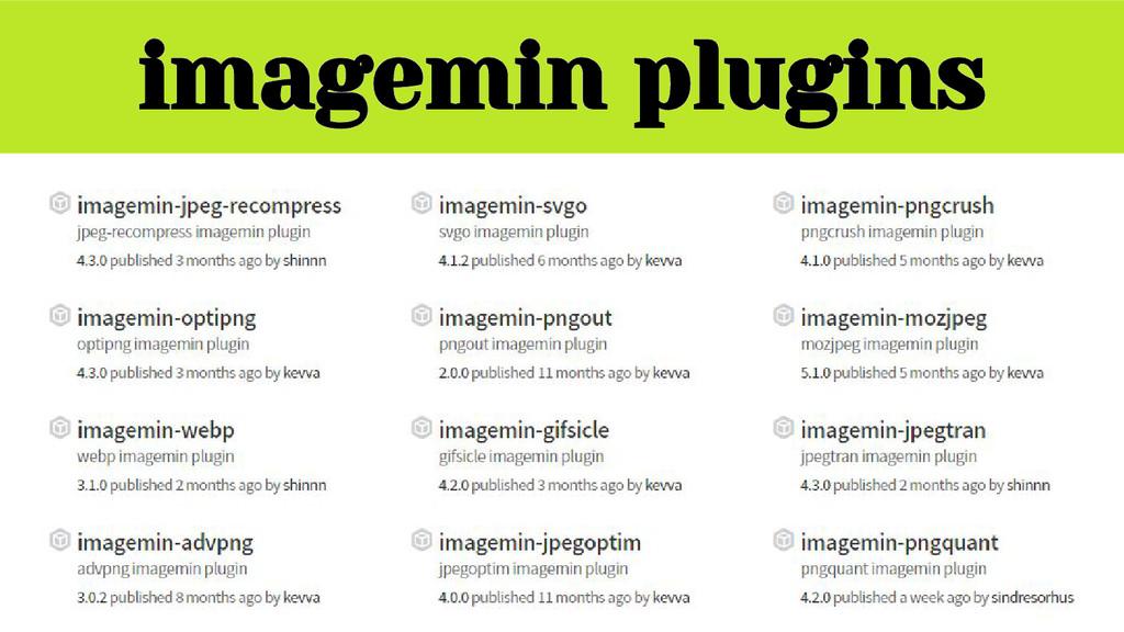 imagemin plugins