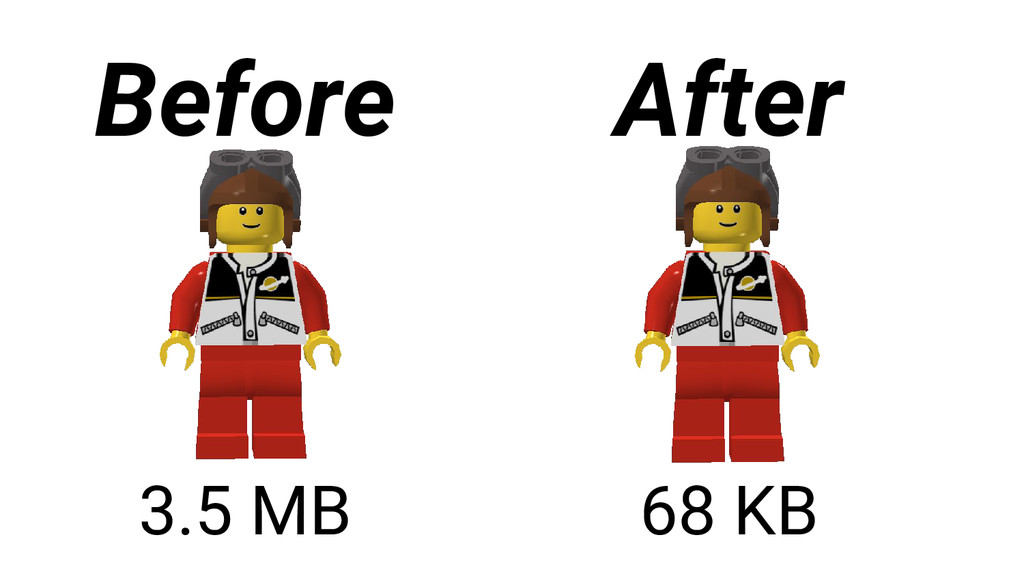3.5 MB 68 KB Before After