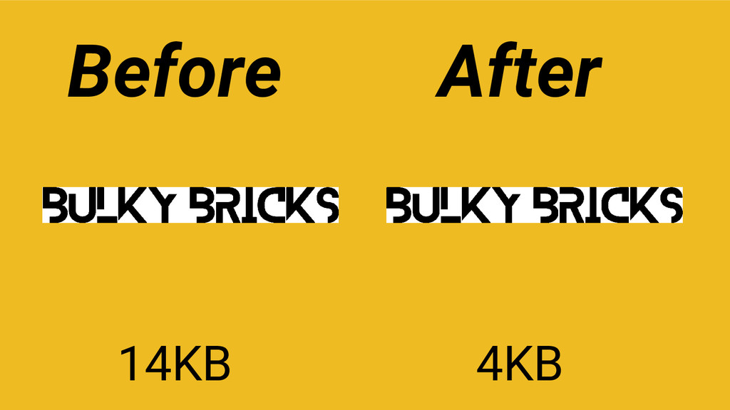 14KB 4KB Before After