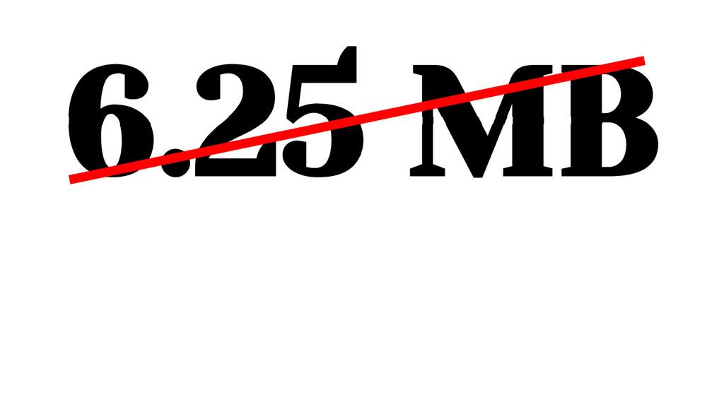6.25 MB