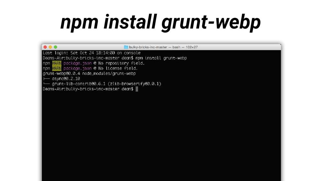 npm install grunt-webp