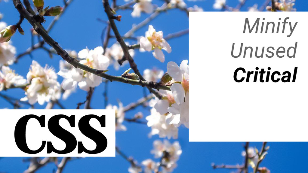 CSS Minify Unused Critical