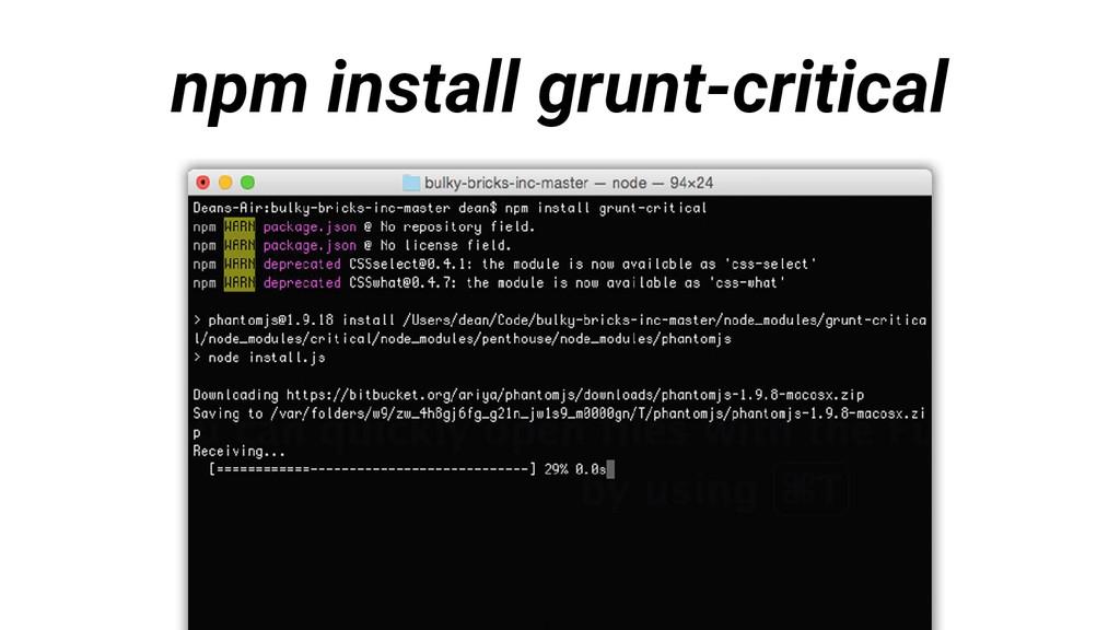 npm install grunt-critical