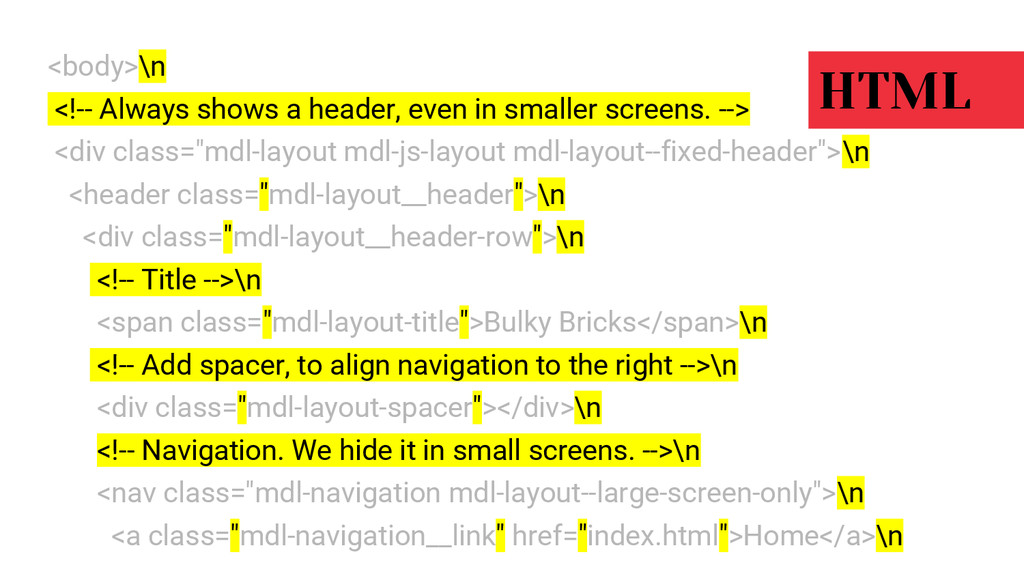 <body>\n <!-- Always shows a header, even in sm...