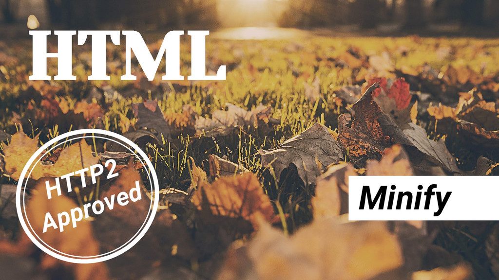HTML Minify HTTP2 Approved
