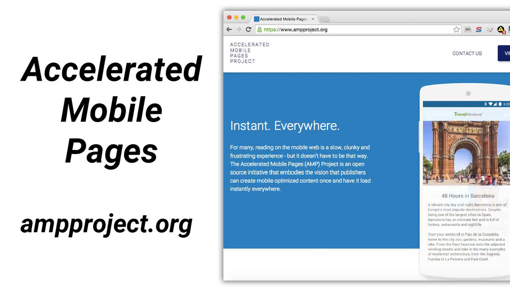 ampproject.org Accelerated Mobile Pages