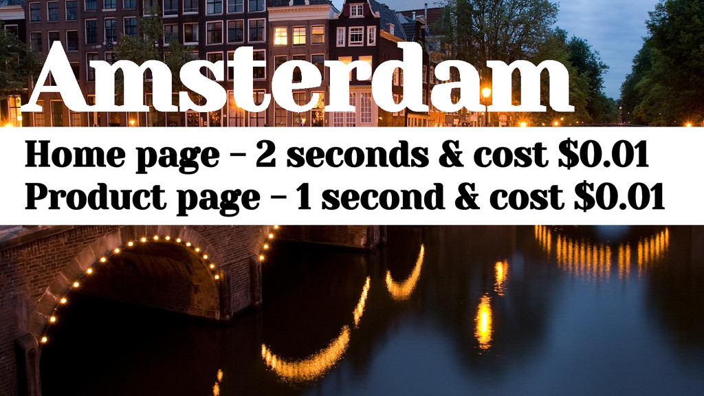 Amsterdam Home page - 2 seconds & cost $0.01 Pr...