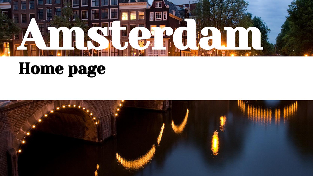 Amsterdam Home page