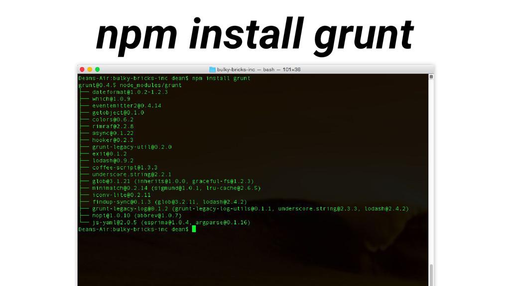 npm install grunt