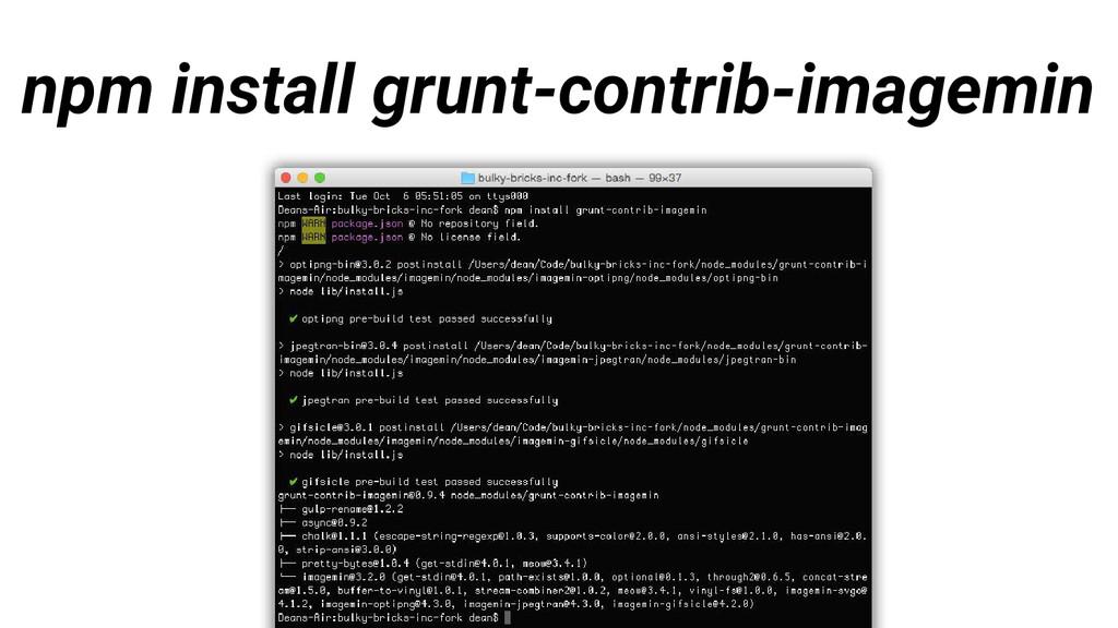 npm install grunt-contrib-imagemin
