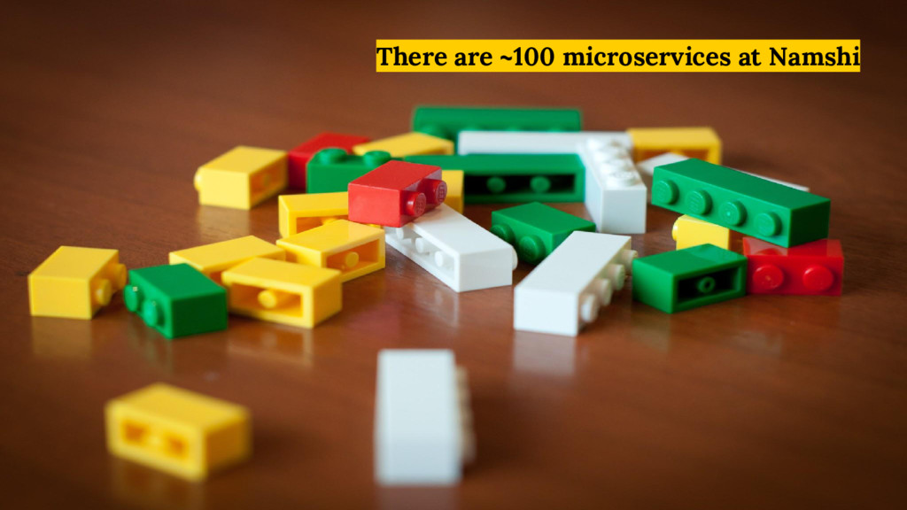 There are ~100 microservices at Namshi
