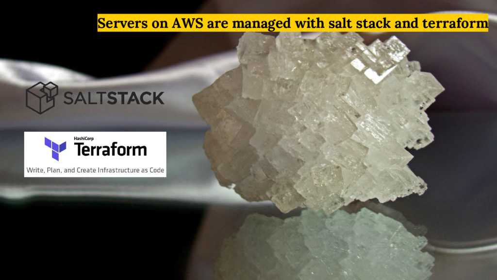 Servers on AWS are managed with salt stack and ...