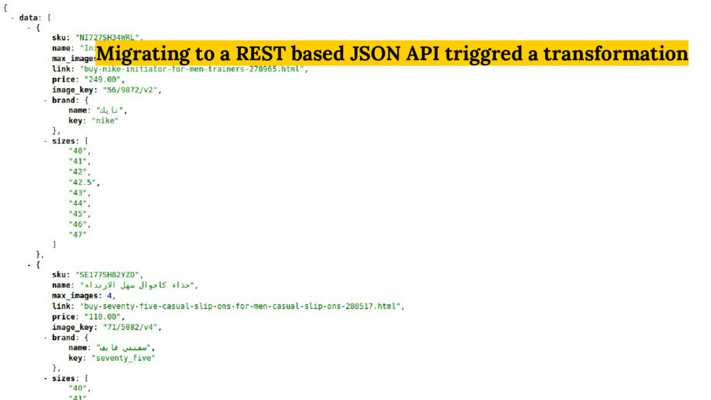 Migrating to a REST based JSON API triggred a t...