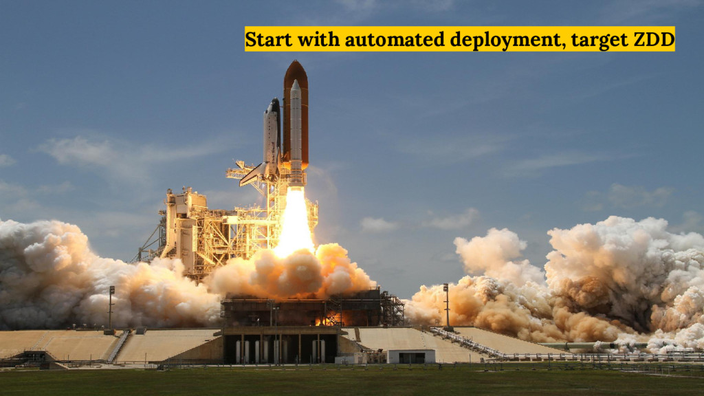 Start with automated deployment, target ZDD