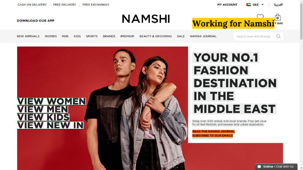 Working for Namshi