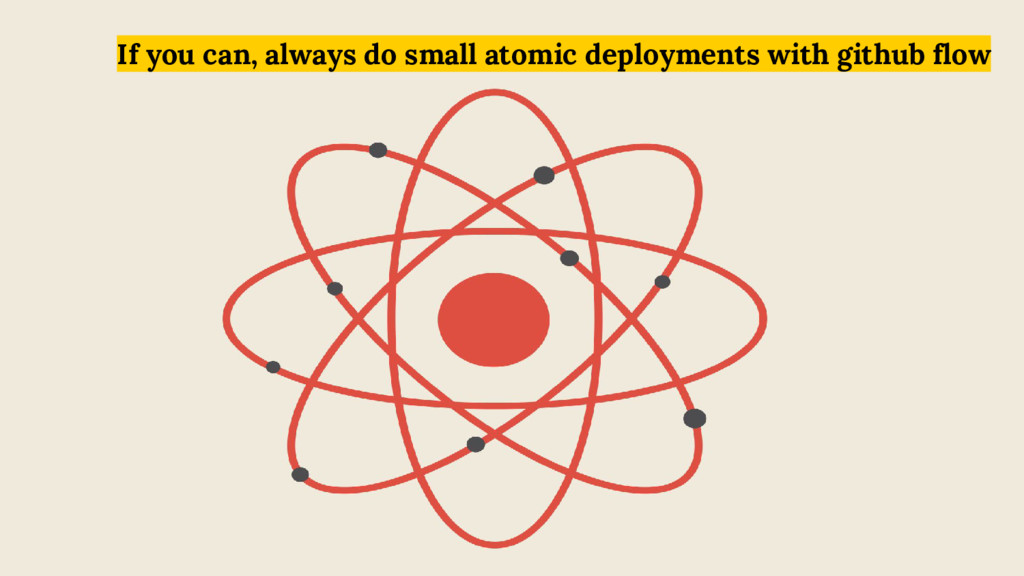 If you can, always do small atomic deployments ...