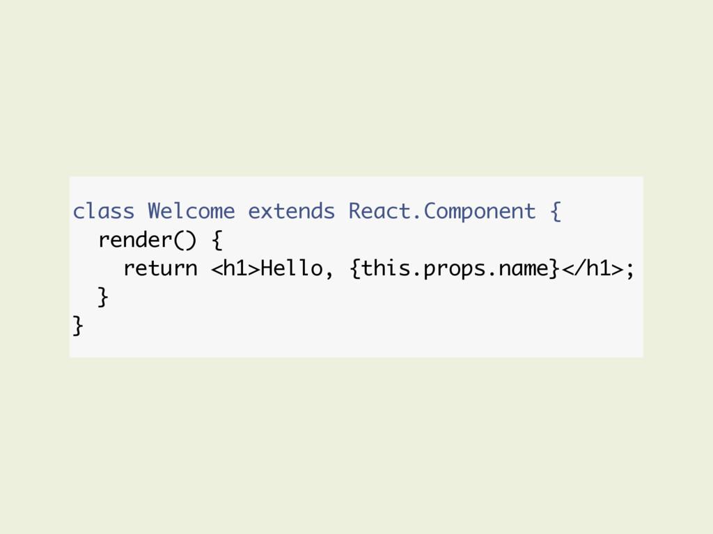 class Welcome extends React.Component { render(...