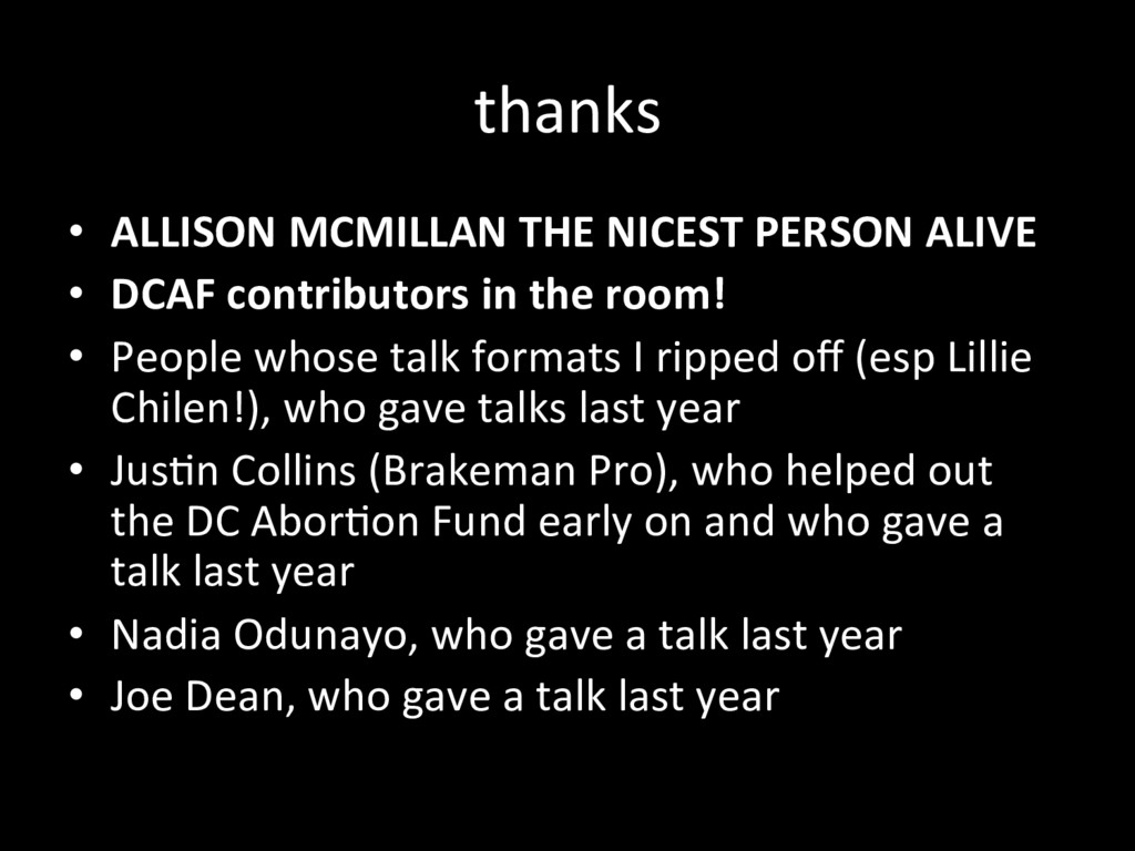 thanks •  ALLISON MCMILLAN THE NICEST PERSON AL...