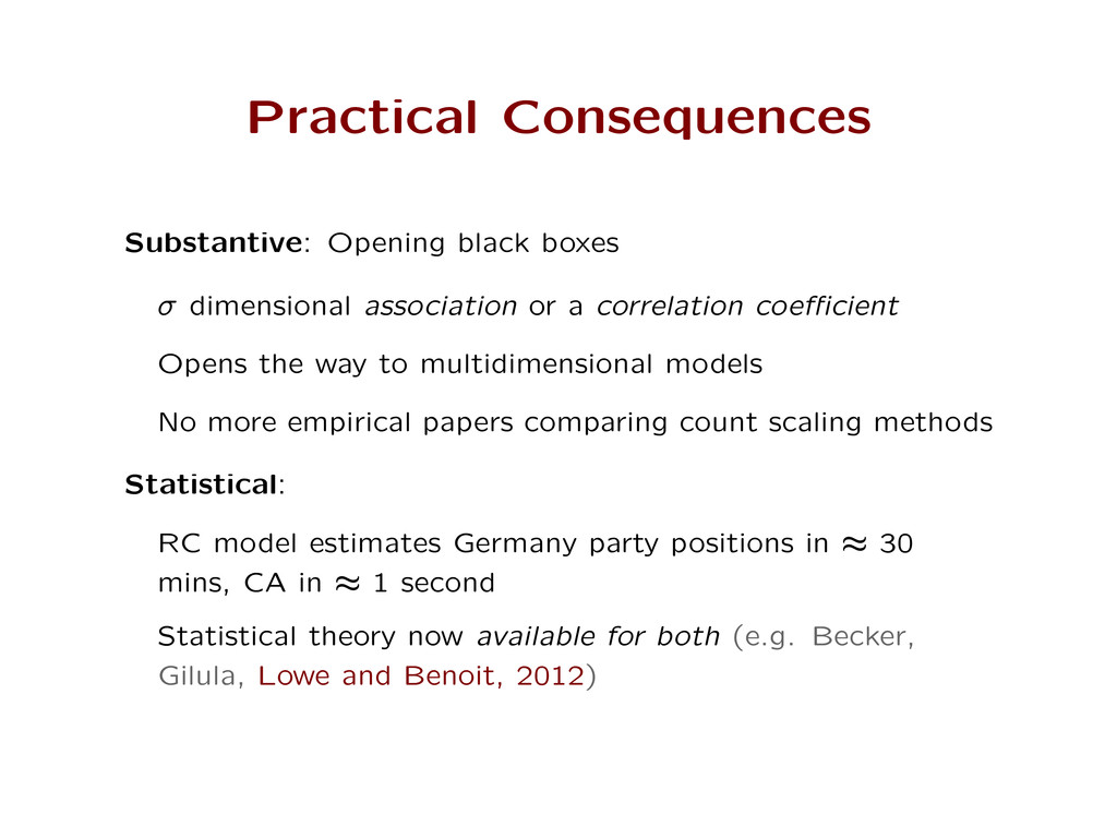 Practical Consequences Substantive: Opening bla...