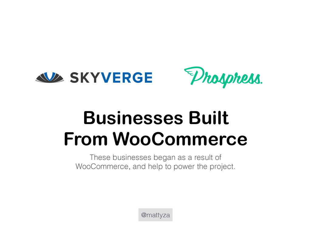 @mattyza Businesses Built From WooCommerce Thes...