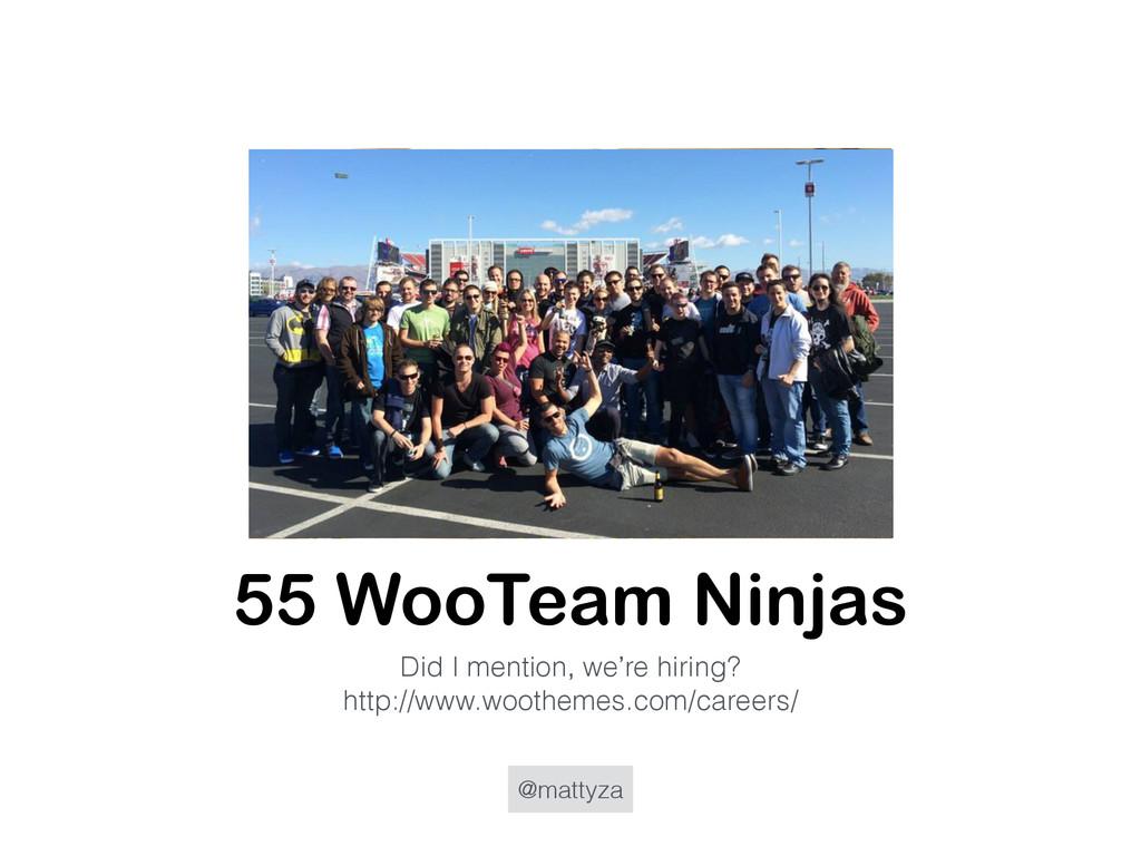 @mattyza 55 WooTeam Ninjas Did I mention, we're...