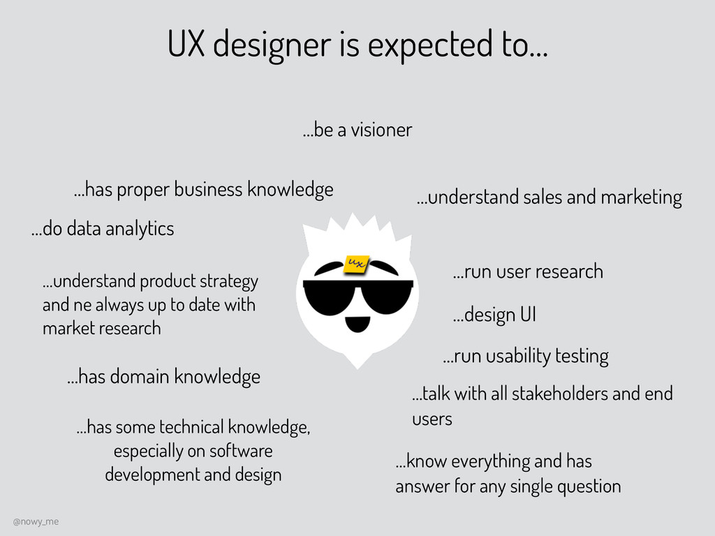 UX designer is expected to… …has proper busines...