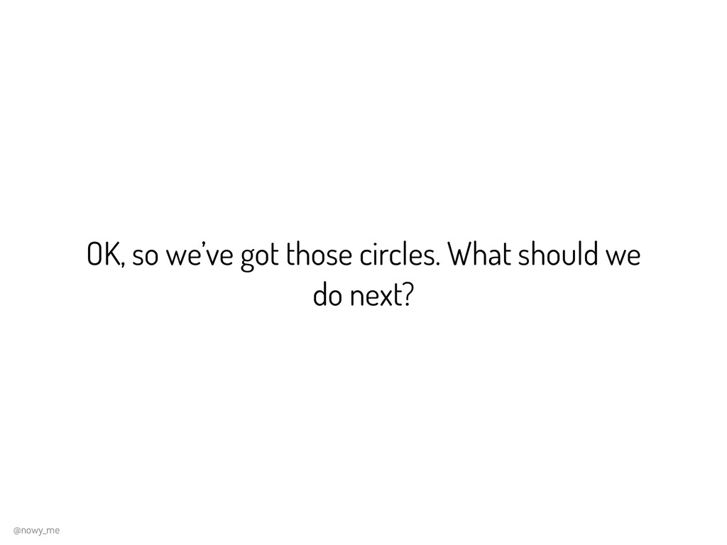 OK, so we've got those circles. What should we ...