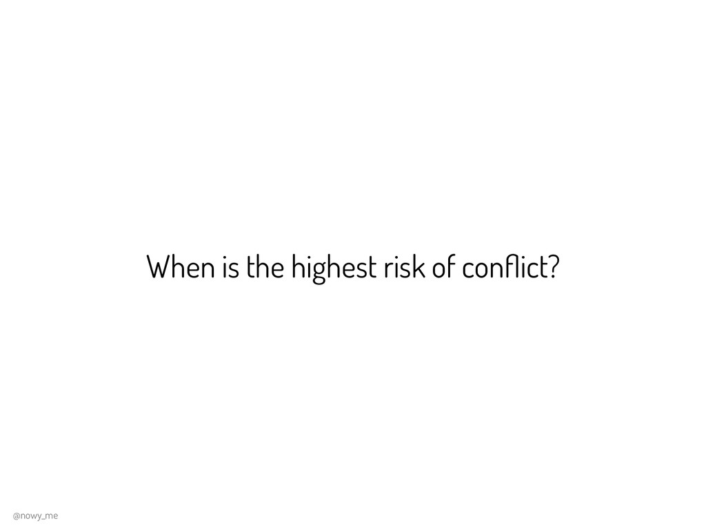 When is the highest risk of conflict? @nowy_me