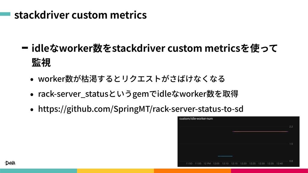 stackdriver custom metrics idleなworker数をstackdr...