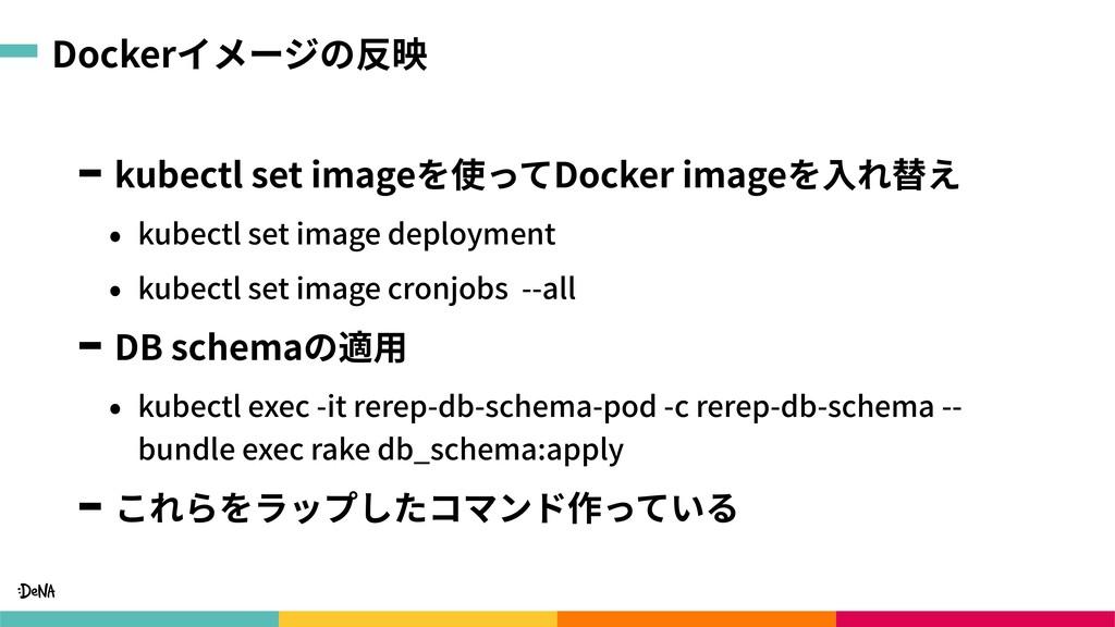 Dockerイメージの反映 kubectl set imageを使ってDocker image...