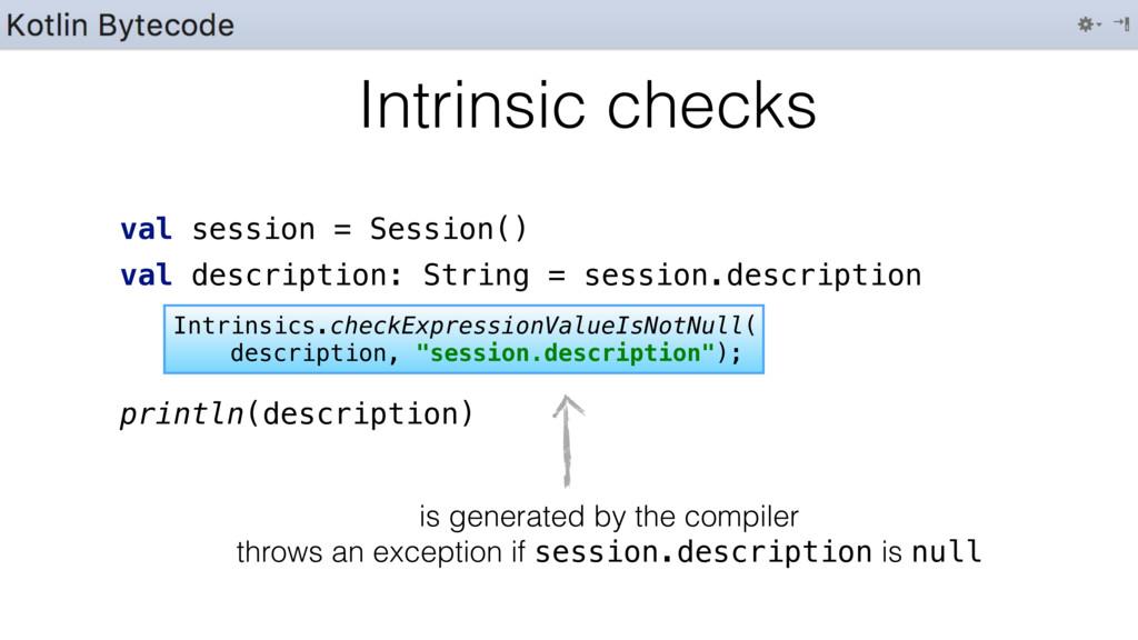 val session = Session() val description: String...