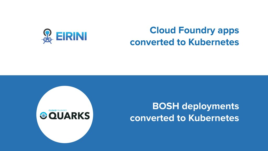 Cloud Foundry apps converted to Kubernetes BOSH...