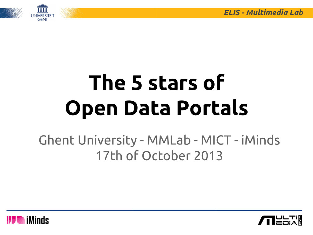 The 5 stars of Open Data Portals ELIS - Multime...