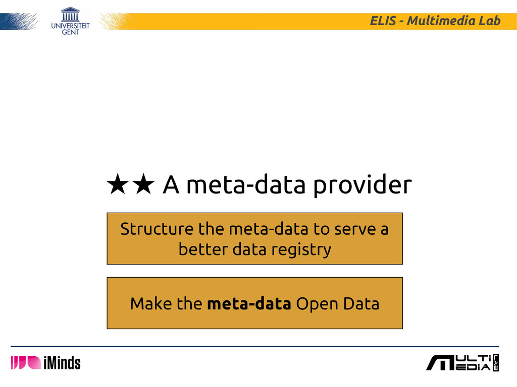 ★★ A meta-data provider ELIS - Multimedia Lab S...