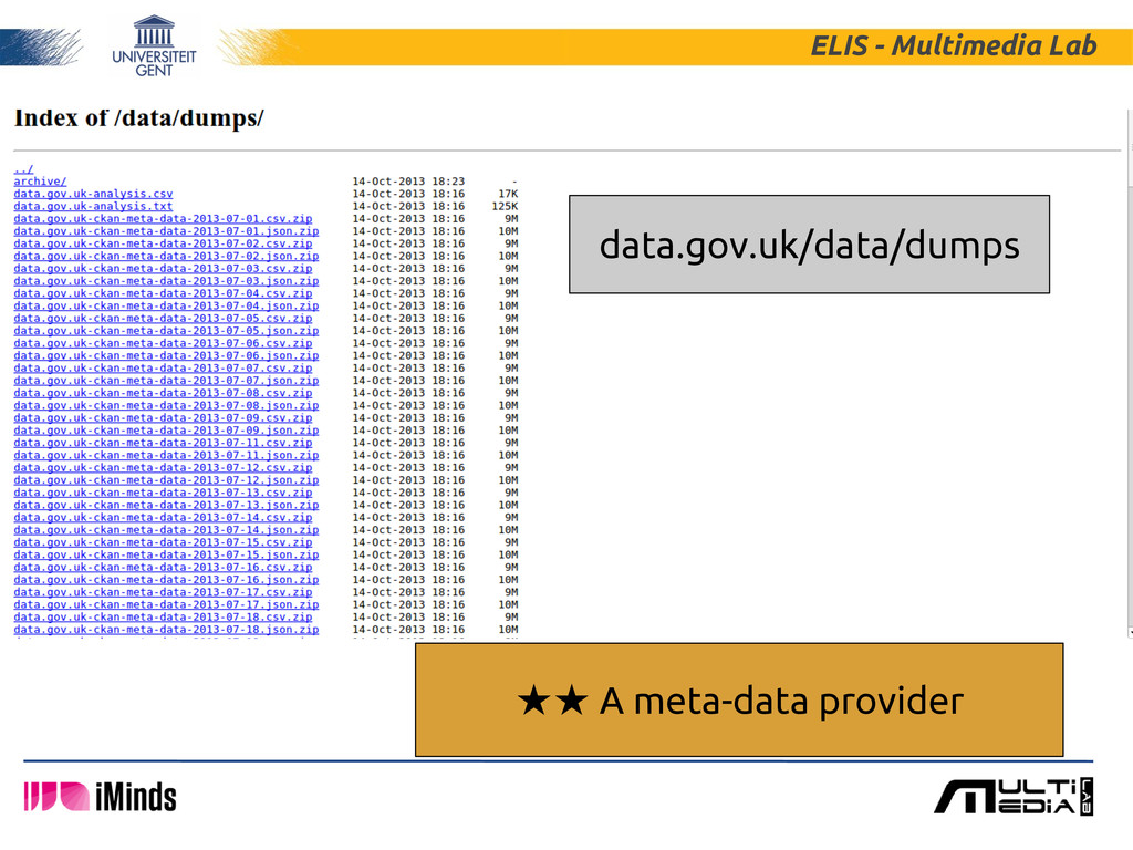 ELIS - Multimedia Lab ★★ A meta-data provider d...