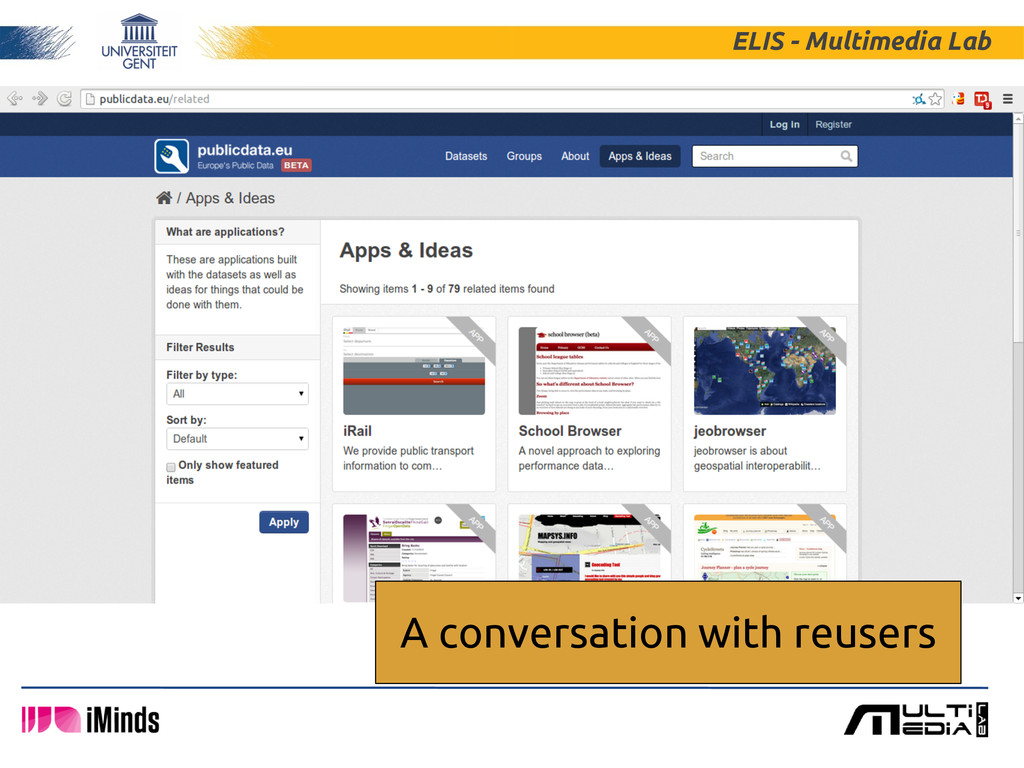 ELIS - Multimedia Lab A conversation with reuse...