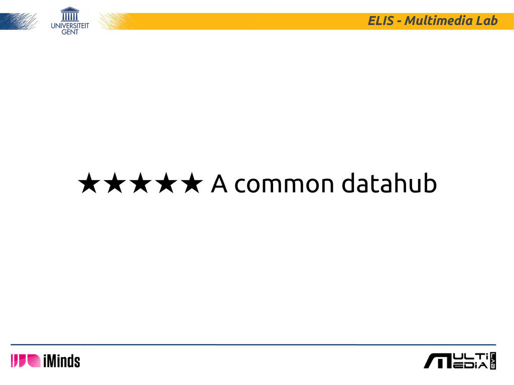 ★★★★★ A common datahub ELIS - Multimedia Lab