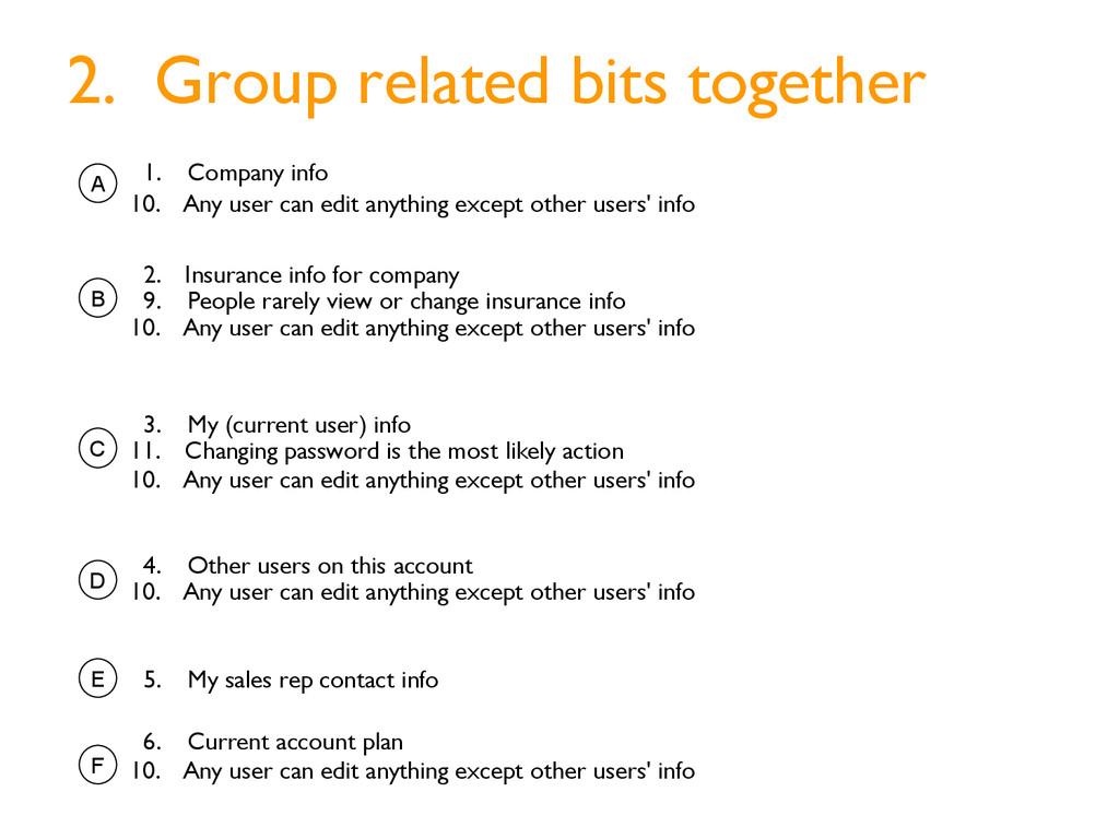 1. Company info 2. Insurance info for company 4...