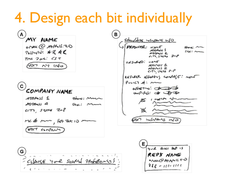 A C E G B 4. Design each bit individually